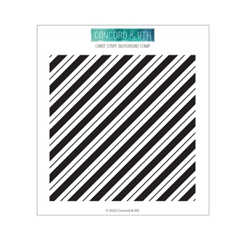 Concord & 9th CANDY STRIPE BACKGROUND Clear Stamp 10955