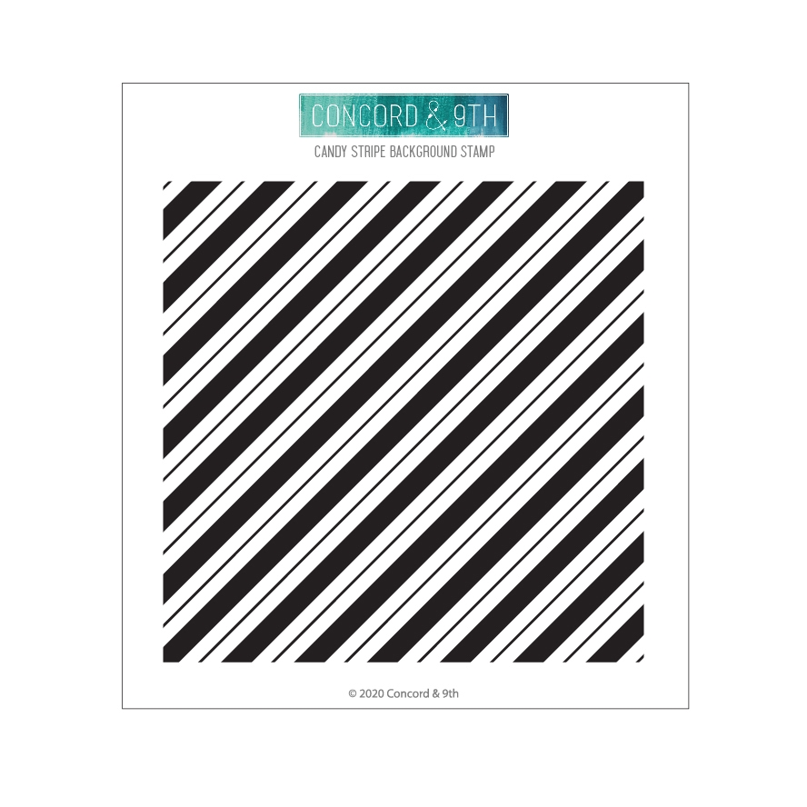 Concord & 9th CANDY STRIPE BACKGROUND Clear Stamp 10955 zoom image