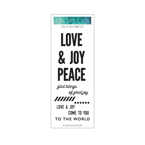 Concord & 9th FULL OF JOY Clear Stamp Set 10961 Preview Image