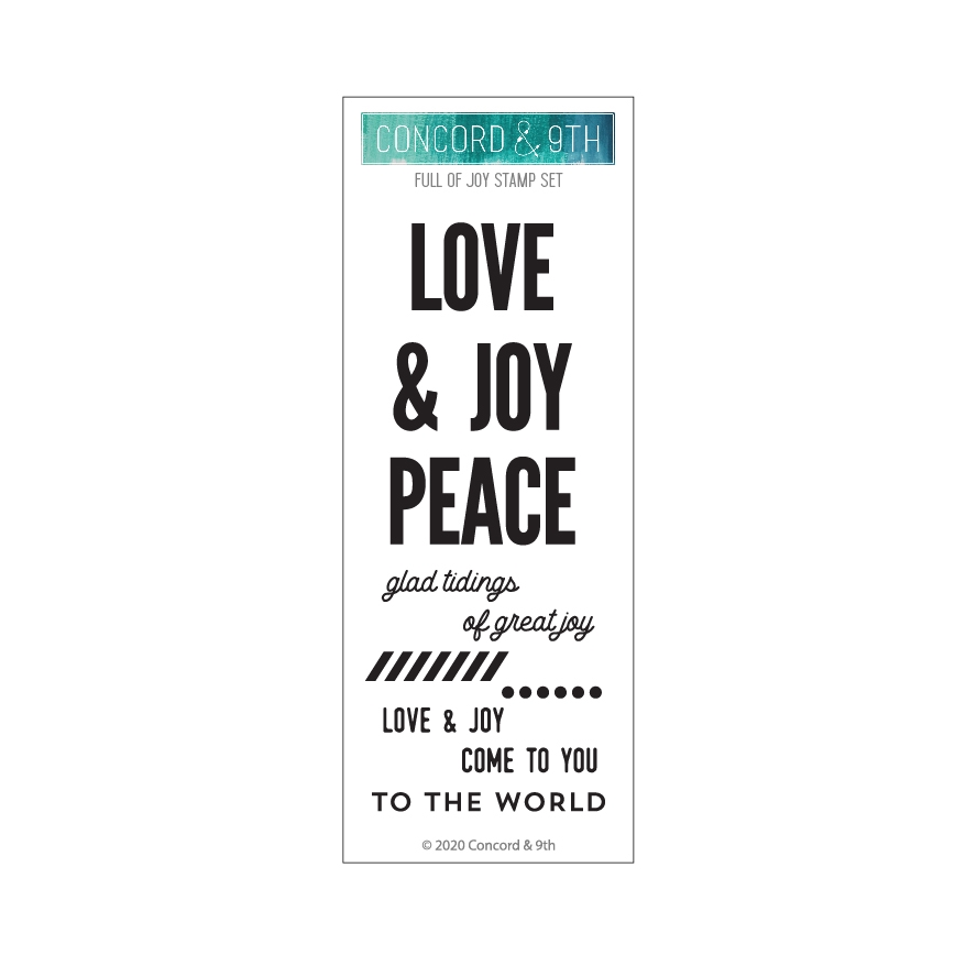 Concord & 9th FULL OF JOY Clear Stamp Set 10961 zoom image