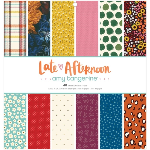 American Crafts Amy Tangerine LATE AFTERNOON 12 x 12 inch Paper Pad 369674* Preview Image