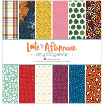 American Crafts Amy Tangerine LATE AFTERNOON 12 x 12 inch Paper Pad 369674
