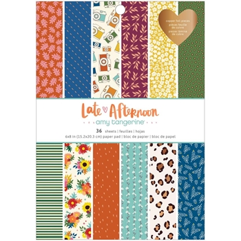 American Crafts Amy Tangerine LATE AFTERNOON 6 x 8 inch Paper Pad 369676