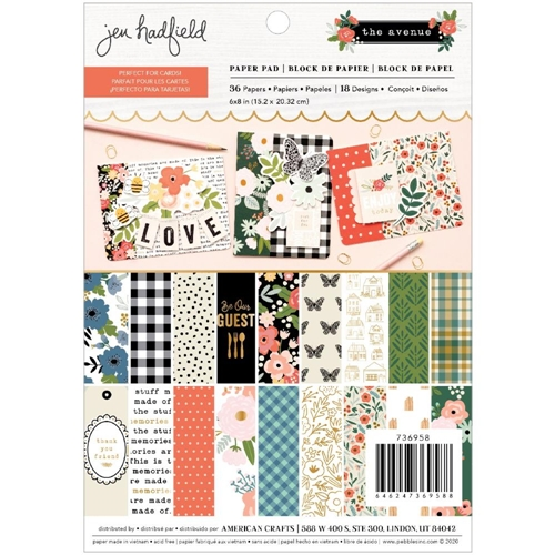 Pebbles Inc. Jen Hadfield THE AVENUE 6 x 8 inch Paper Pad 736958* Preview Image
