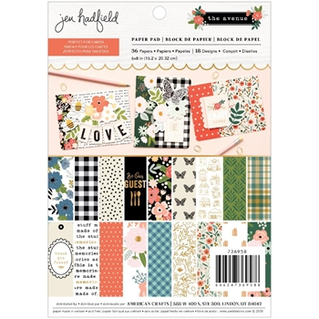 Pebbles Inc. Jen Hadfield THE AVENUE 6 x 8 inch Paper Pad 736958