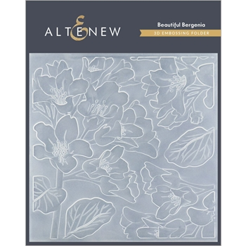 Altenew BEAUTIFUL BERGENIA 3D Embossing Folder ALT4410