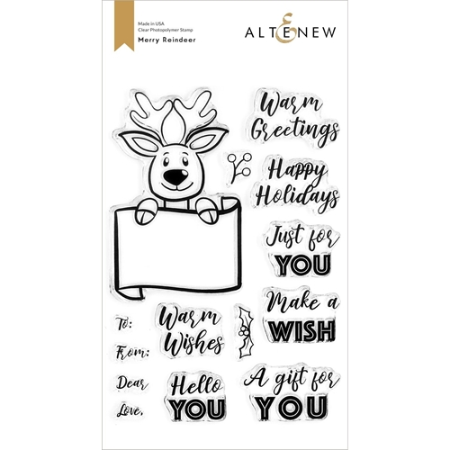 Altenew MERRY REINDEER Clear Stamps ALT4447* Preview Image