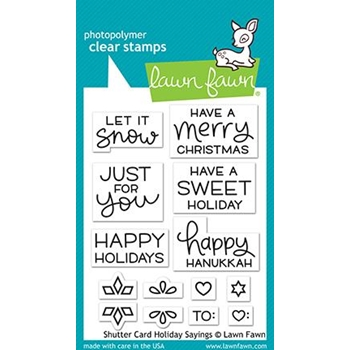 Lawn Fawn SHUTTER CARD HOLIDAY SAYINGS Clear Stamps lf2430
