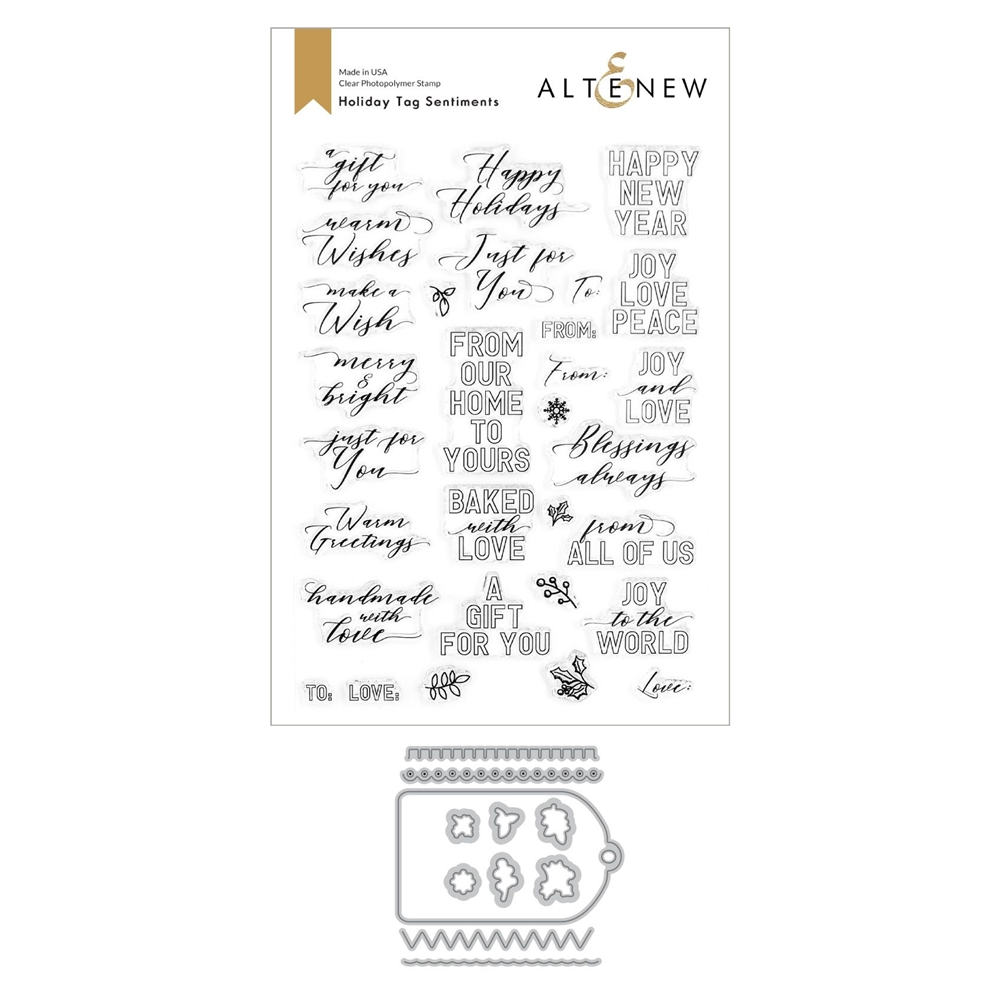 Altenew HOLIDAY TAG Clear Stamp and Die Bundle ALT4441 zoom image