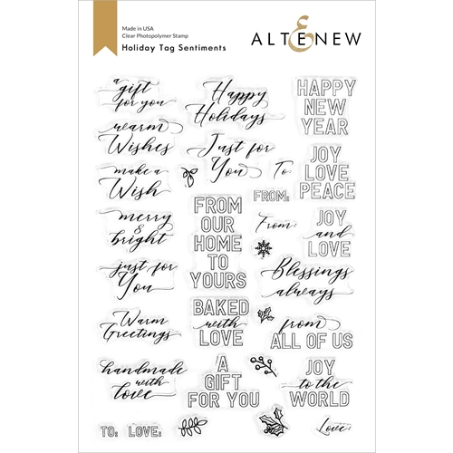 Altenew HOLIDAY TAG SENTIMENTS Clear Stamps ALT4439 Preview Image