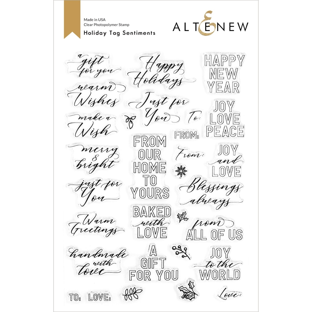Altenew HOLIDAY TAG SENTIMENTS Clear Stamps ALT4439 zoom image