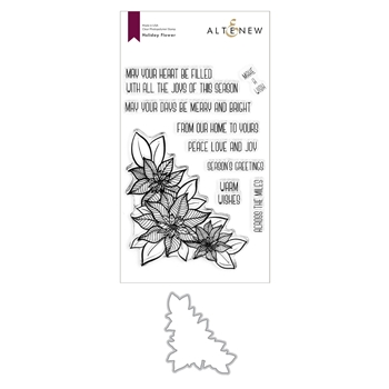 Altenew HOLIDAY FLOWER Clear Stamp and Die Bundle ALT4438