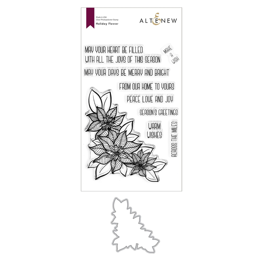 Altenew HOLIDAY FLOWER Clear Stamp and Die Bundle ALT4438 zoom image