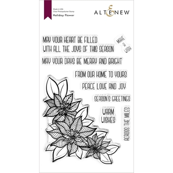 Altenew HOLIDAY FLOWER Clear Stamps ALT4436*