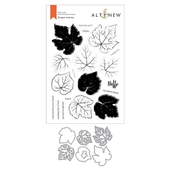 Altenew GRAPE LEAVES Clear Stamp and Die Bundle ALT4434