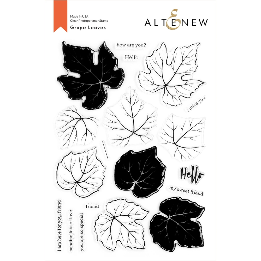 Altenew GRAPE LEAVES Clear Stamps ALT4431 zoom image