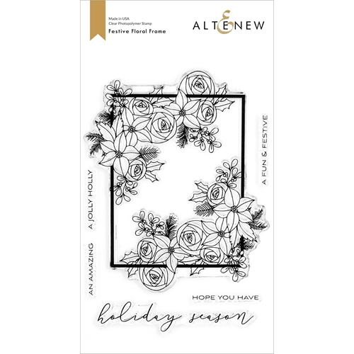 Altenew FESTIVE FLORAL FRAME Clear Stamps ALT4430 Preview Image