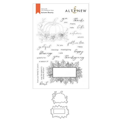 Altenew AUTUMN BOUNTY Clear Stamp and Die Bundle ALT4429 Preview Image