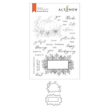 Altenew AUTUMN BOUNTY Clear Stamp and Die Bundle ALT4429