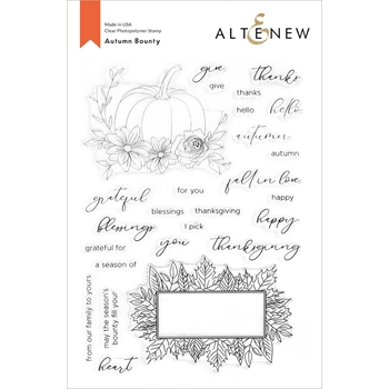 Altenew AUTUMN BOUNTY Clear Stamps ALT4427