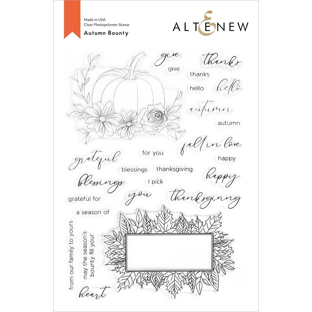 Altenew AUTUMN BOUNTY Clear Stamps ALT4427 zoom image