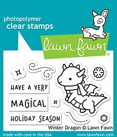 Lawn Fawn WINTER DRAGON Clear Stamps lf2425 Preview Image