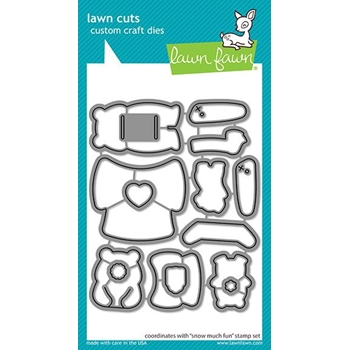 Lawn Fawn SNOW MUCH FUN Die Cuts lf2412