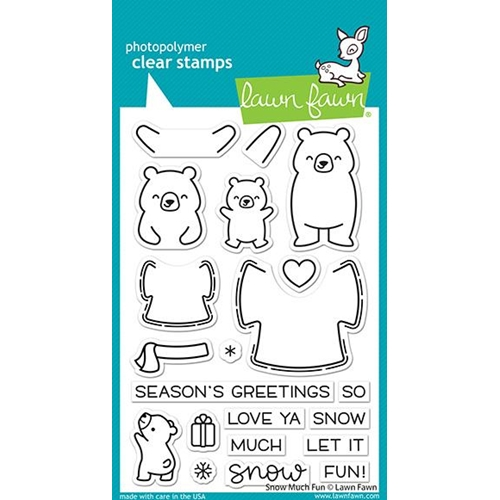 Lawn Fawn SNOW MUCH FUN Clear Stamps lf2411 Preview Image