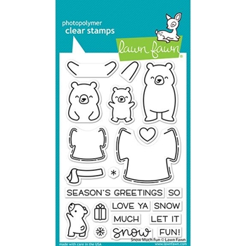 Lawn Fawn SNOW MUCH FUN Clear Stamps lf2411