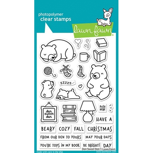 Lawn Fawn DEN SWEET DEN Clear Stamps lf2409 Preview Image