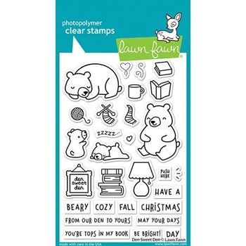 Lawn Fawn DEN SWEET DEN Clear Stamps lf2409