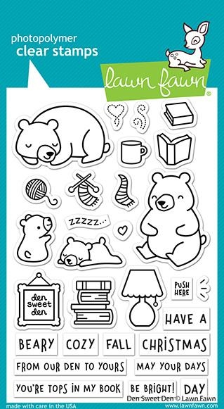 Lawn Fawn DEN SWEET DEN Clear Stamps lf2409 zoom image