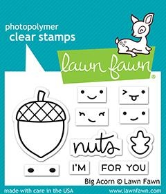 Lawn Fawn BIG ACORN Clear Stamps lf2403