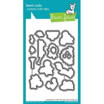 Lawn Fawn LET'S GO NUTS Die Cuts lf2408