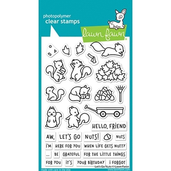 Lawn Fawn LET'S GO NUTS Clear Stamps lf2407