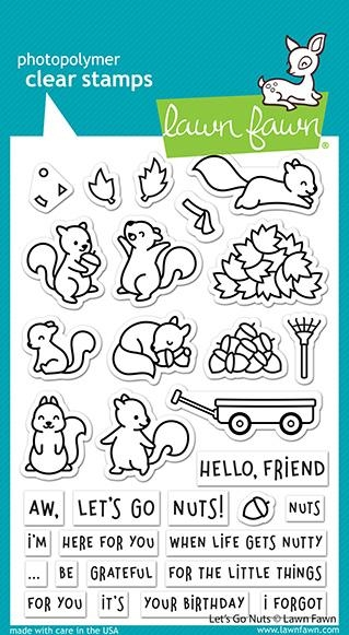 Lawn Fawn LET'S GO NUTS Clear Stamps lf2407 zoom image