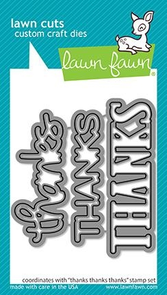 Lawn Fawn THANKS THANKS THANKS Die Cuts lf2406 Preview Image