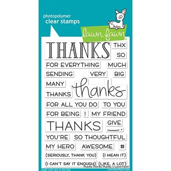 Lawn Fawn THANKS THANKS THANKS Clear Stamps lf2405