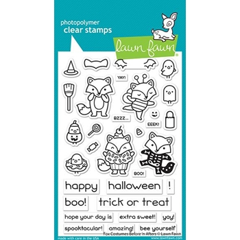 Lawn Fawn FOX COSTUMES BEFORE 'N AFTERS Clear Stamps lf2401