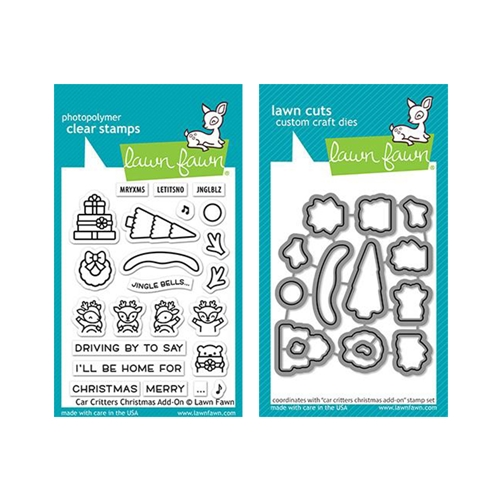 Lawn Fawn SET CAR CRITTERS CHRISTMAS ADD-ON Clear Stamps and Dies lfcccao Preview Image
