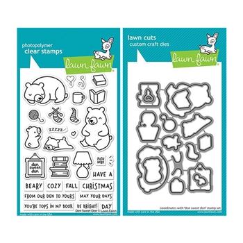 Lawn Fawn SET DEN SWEET DEN Clear Stamps and Dies lfdsd