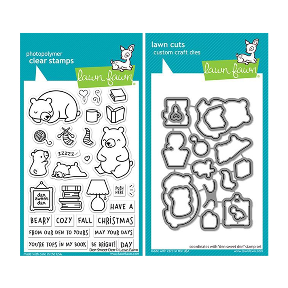 Lawn Fawn SET DEN SWEET DEN Clear Stamps and Dies lfdsd zoom image