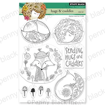 Penny Black Clear Stamps HUGS AND CUDDLES 30-738*