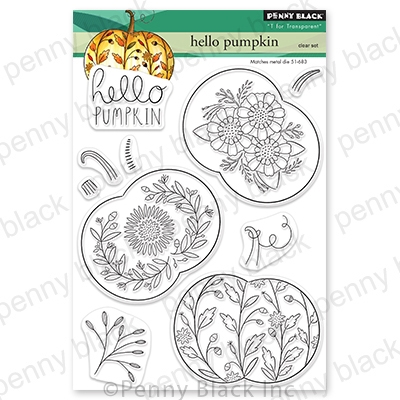 Penny Black Clear Stamps HELLO PUMPKIN 30-727 zoom image