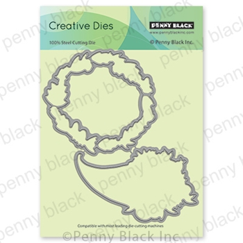 Penny Black HARVEST WISHES CUT OUT Thin Metal Creative Die 51-681