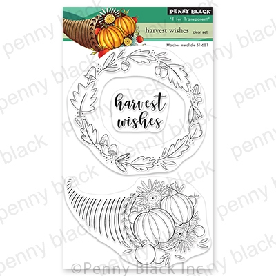 Penny Black Clear Stamps HARVEST WISHES 30-728 zoom image