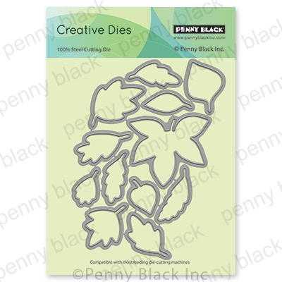 Penny Black FALLING LEAVES CUT OUT Thin Metal Creative Die 51-680 Preview Image