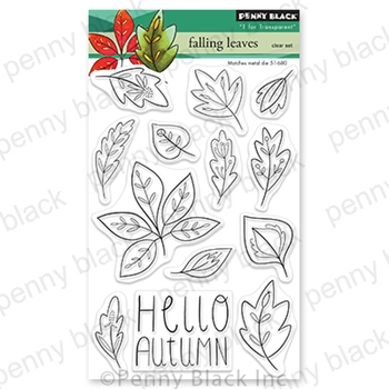 Penny Black Clear Stamps FALLING LEAVES 30-716