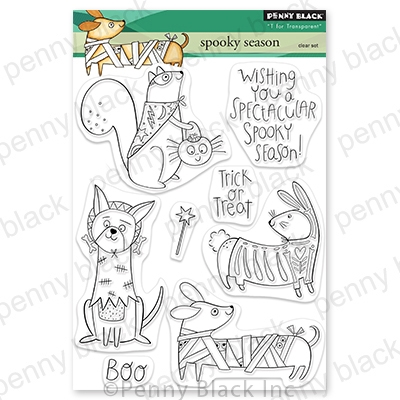 Penny Black Clear Stamps SPOOKY SEASON 30-724 Preview Image