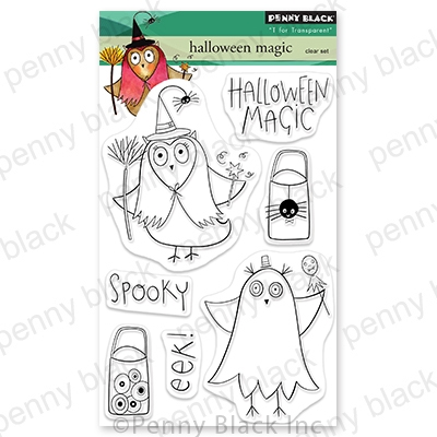 Penny Black Clear Stamps HALLOWEEN MAGIC 30-720 zoom image